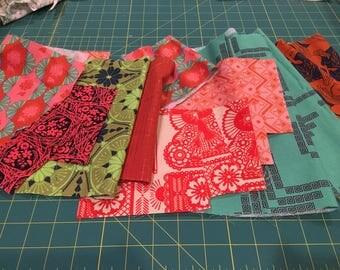 Anna Maria Horner Scrap Bag - 4 oz of Fabric - Quilting Fabric AMH Quilting Cotton