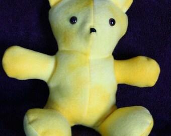 "10"" Yellow Wash Teddy Bear, Blizzard Fleece Fabric"