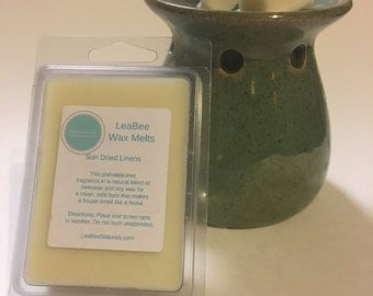 Sun Dried Linens Wax Melts • LeaBee Naturals Beeswax and Soy Wax Tarts