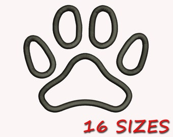 Paw Applique Embroidery Design, 16 Sizes, DIGITAL INSTANT DOWNLOAD 430
