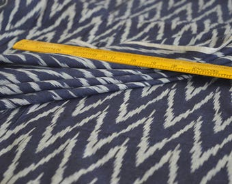 Blue IKAT Fabric, Indian Fabric, IKAT, Cotton Fabric, Fabric by Yard, Fashion & Apparels Fabric, Upholstery Fabric