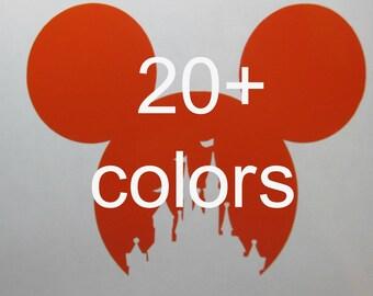Yeti Rambler Tumbler Mickey Castle Disney Vinyl Decal / Sticker *Available in 24 Colors*