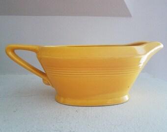 Vintage Yellow Ceramic Gravy Boat