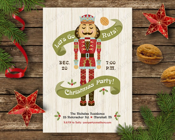 Nutcracker Christmas Party Invitation