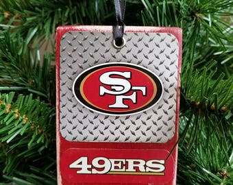49ers Wood Christmas Ornaments NFL Ornaments