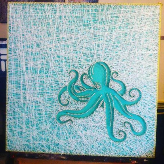 Items Similar To Octopus String Art On Etsy