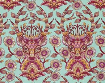 Tula Pink - Moon Shine - Dear Me - Strawberry - FreeSpirit Fabrics - Fabric By the Half Yard