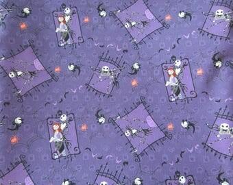 Nightmare Before Christmas Fabric, Couple, 100% Cotton Fabric
