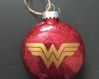 Wonder Woman Glitter Ornament