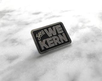 Yes We Kern Iridescent Glitter Hard Enamel Pin