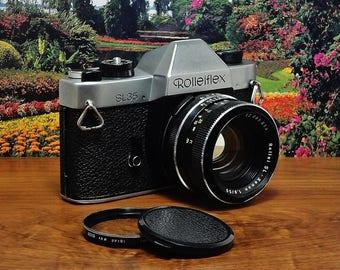 Vintage ROLLEIFLEX SL35 Single-Lens-Reflex 35mm Film Camera, Schneider Kreuznach Rollei SL Xenon 50mm f/1.8 Lens, Circa: 1970-1976, Nice!