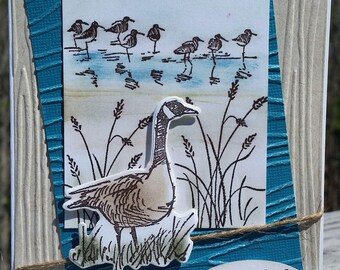 BIRTHDAY, Father's Day, Thinking of You, Sympathy Card, Stampin' Up! WETLANDS, Duck,