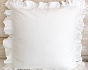 Euro Pillow Sham - Euro Sham - Euro Pillow Covers - Ruffled Euro Sham - Ruffled Euro Pillow Sham - Ruffled Pillow Sham - Ruffled Euro