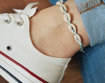 Lucky Shells Anklet/Bracelet, Mint