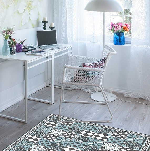 PVC vinyl mat linoleum rug Free Shipping Mix Tiles Pattern 310