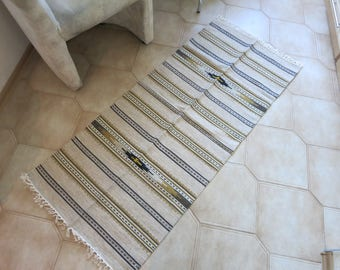 Rug Wall Hanging, handwoven rug, Floor and rugs, home decor rug, hand woven wool rug, Kitchen Rug, bedroom rug, striped rug, carpet rug