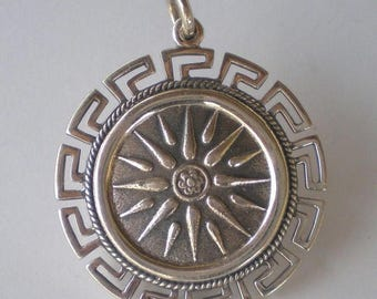 For Sale Macedonian Star Coin X-Large Pendant with Meander Design - High Quality Item