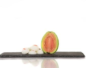 Soy pellets, fragrance guava