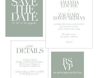 Customizable Modern Wedding Invitation | Print-at-Home