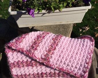 Multi-Pinks Crocheted Baby Blanket