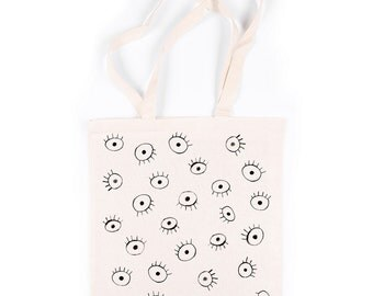Eyes - Tote - Watercolour - Calico