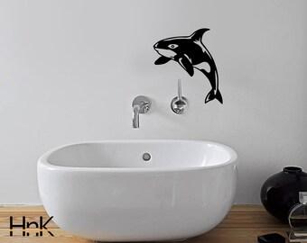 Dolphin decal vinyl wc sticker wall decal interior bathroom decor b012