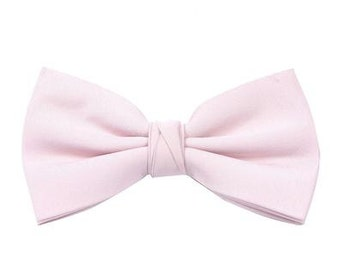 Pale Pink Bow Tie Men's Wedding / Prom by Matchimony available in 37 colours