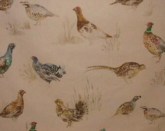 Voyage Decoration Game Birds Linen Designer Curtain Upholstery Pheasant Fabric