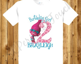 Children's Trolls Birthday Shirt