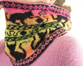 Cowl's Meow Reversible Wool Neckwarmer for Adults