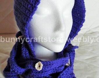 Crochet Squid Hood