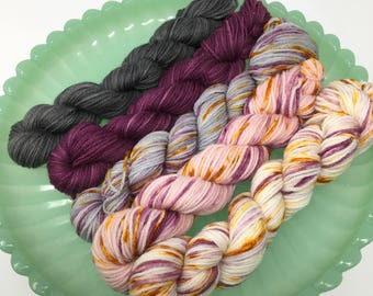 20g mini set Indie Dyed Yarn on Merino cashmere Nylon MCN  top colorways
