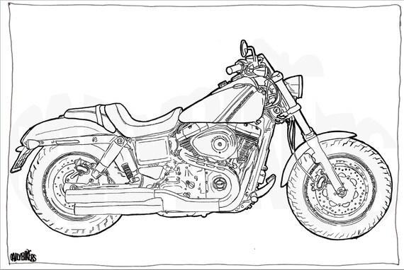Fantastisch Harley Davidson Malvorlagen Galerie - Framing ...