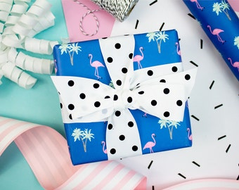 Flamingos Gift Wrap, Single Sheet