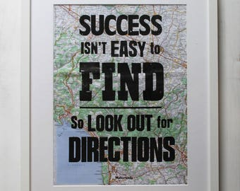 Look out for Directions - Letterpress Print