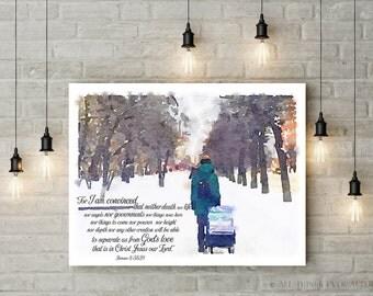 Jw   Life of a PIONEER   Romans 8:38,39    JW   Jehovah   Encouragement   SKE   Digital Print   Gift   00104