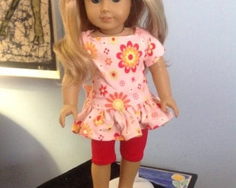 "SALE!!!!!18"" doll dress and capris with free shipping"