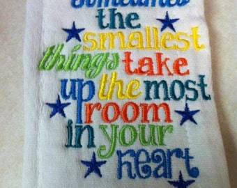 Custom embroidery baby burp rag