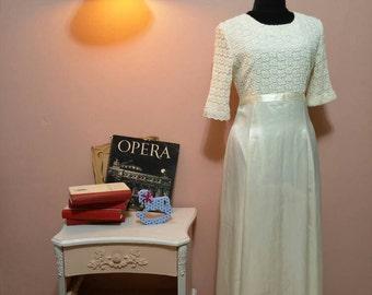 White Dress.Vintage Dress.Vintage Wedding Dress.Wedding Dress.Dresses.White Lace Dress.90's Dresses.vintage.Women's Clothing
