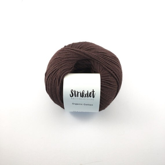 STRIKDET Organic Cotton Brown / Økologisk Bomuld - Brun
