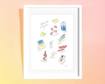 Custom Recipe/Ingredient/Cooking Illustration