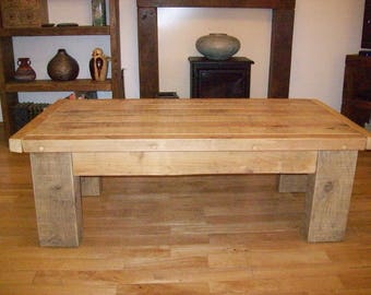 New reclaimed timber tradional coffee table