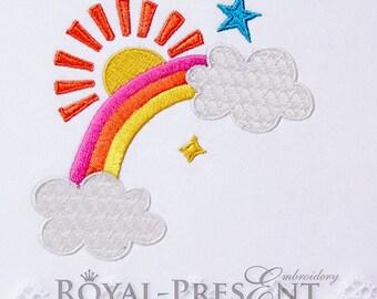 Machine Embroidery Design Rainbow - 3 sizes