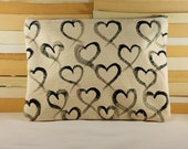 Hand painted Heart Clutch