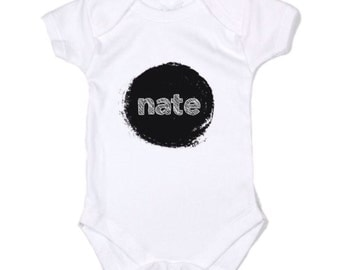 Custom Baby name announcement Onesie Romper Bodysuit