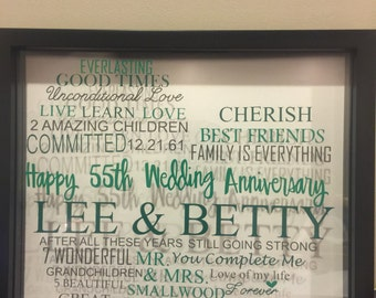 Personalized 55th wedding anniversary