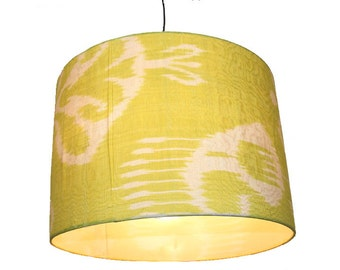hand made  Unusual Origina Ikat lamp shade from uzbek Ikat No.K