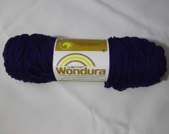 Navy #854 Wonderura Orlon Acrylic Fiber Yarn, Clark's O.N.T., Vintage 1980's