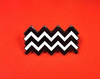 Twin Peaks Zig Zag Enamel Pin