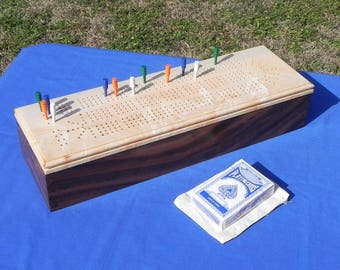 Handcrafted Four Player Cribbage
